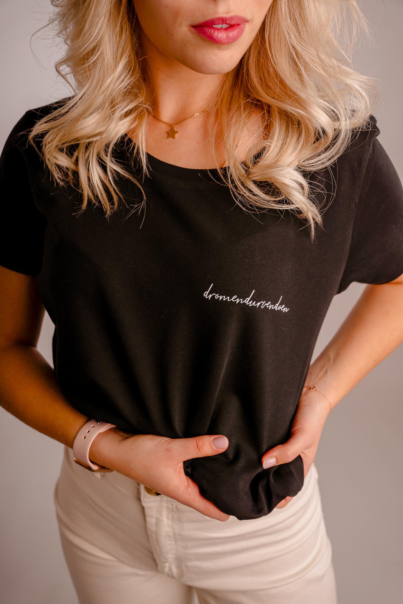 Iwrite4U zwart dames T-shirt dromen durven doen
