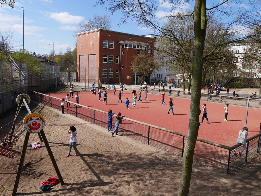 Magnet für Perspektivspieler: Der Fußballplatz