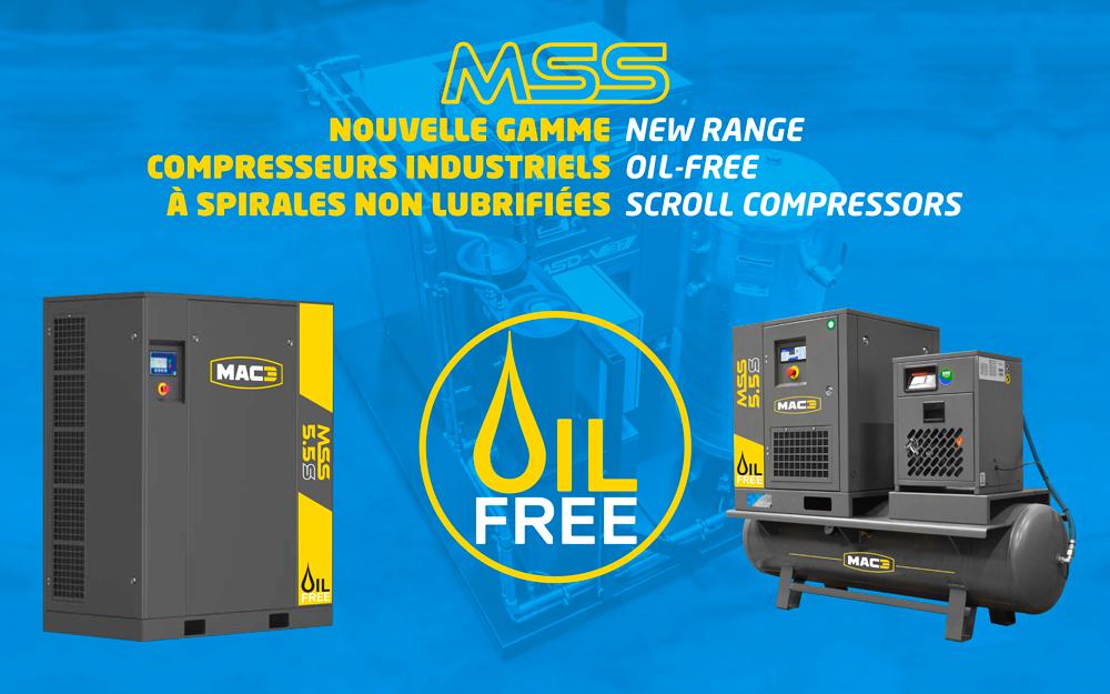 New MAC3 MSS range of oil-free scroll compressors