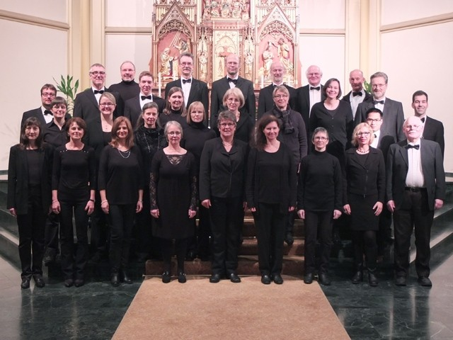 Gruppenbild des Vokalensemble im Januar 2015
