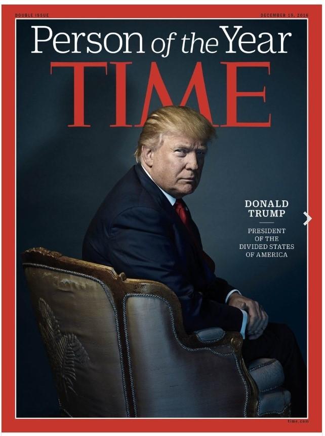TIME誌 パーソン・オブ・ザ・イヤー 米トランプ大統領