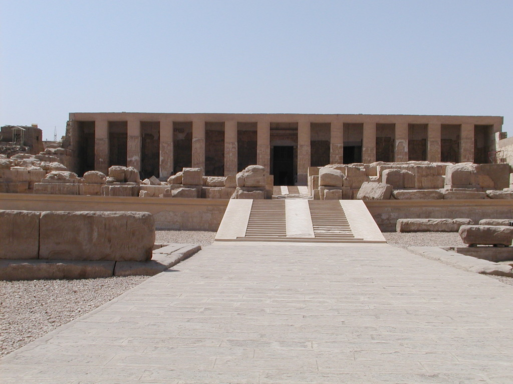 Grand temple d'Abydos ( Égypte )