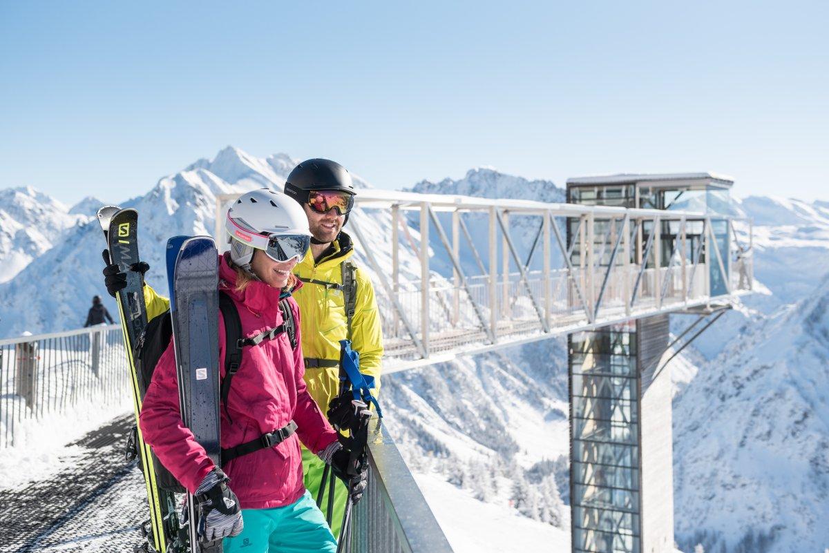 Genießen vor dem Panoramaaufzug © Oberstdorf / Kleinwalsertal Bergbahnen