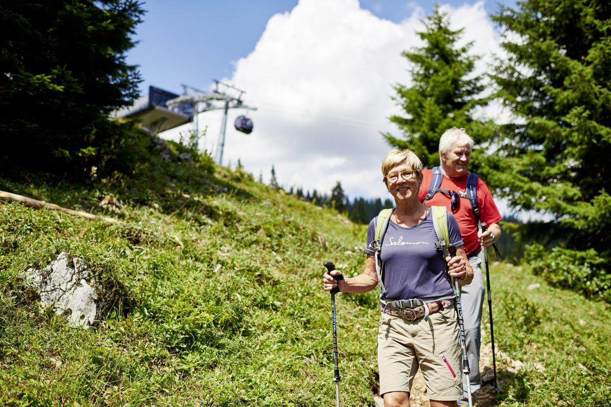Auf dem Weg zur Ifen Talstation © Oberstdorf / Kleinwalsertal Bergbahnen