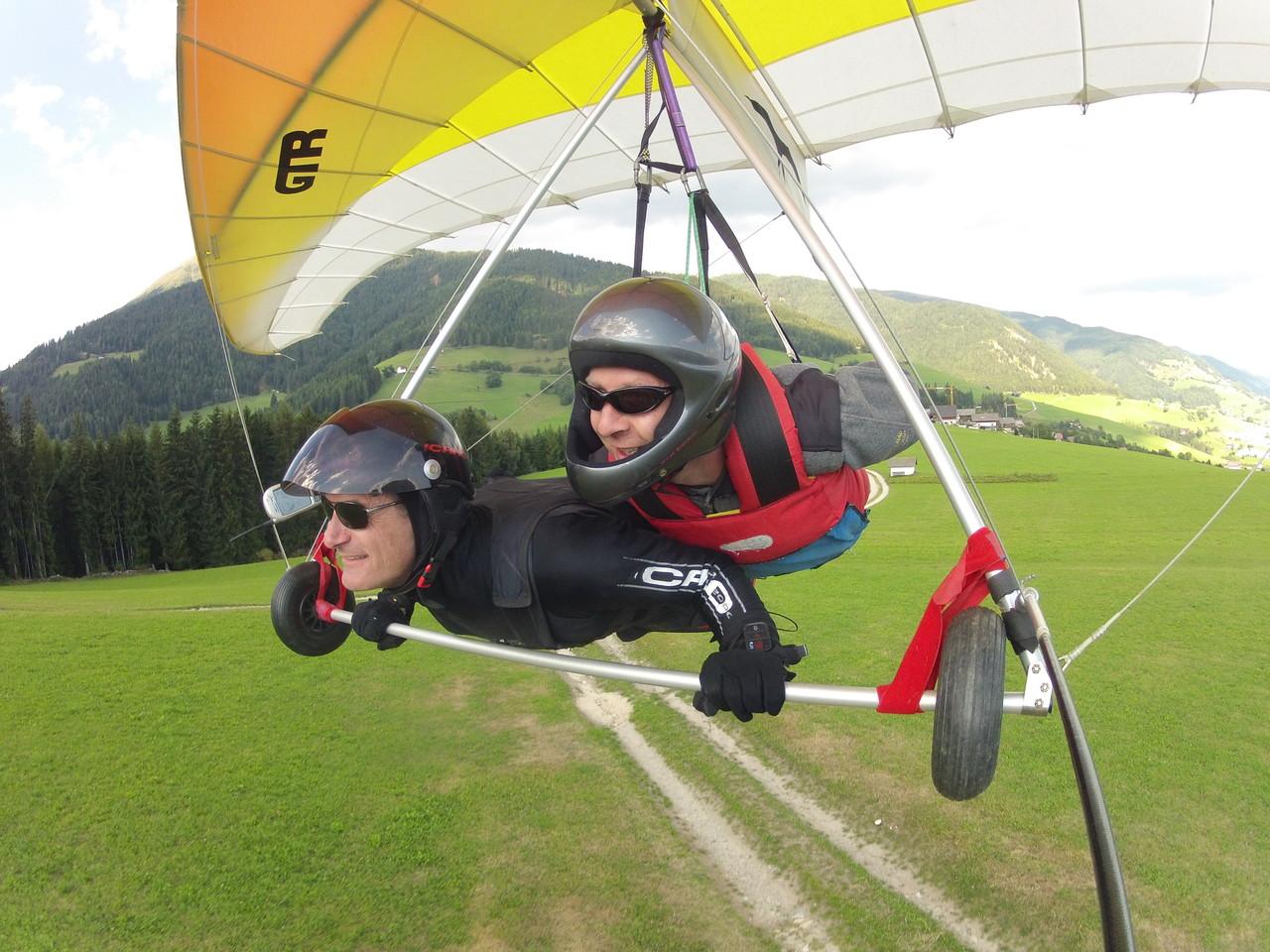 Landung mit Oliver am Flugplatz