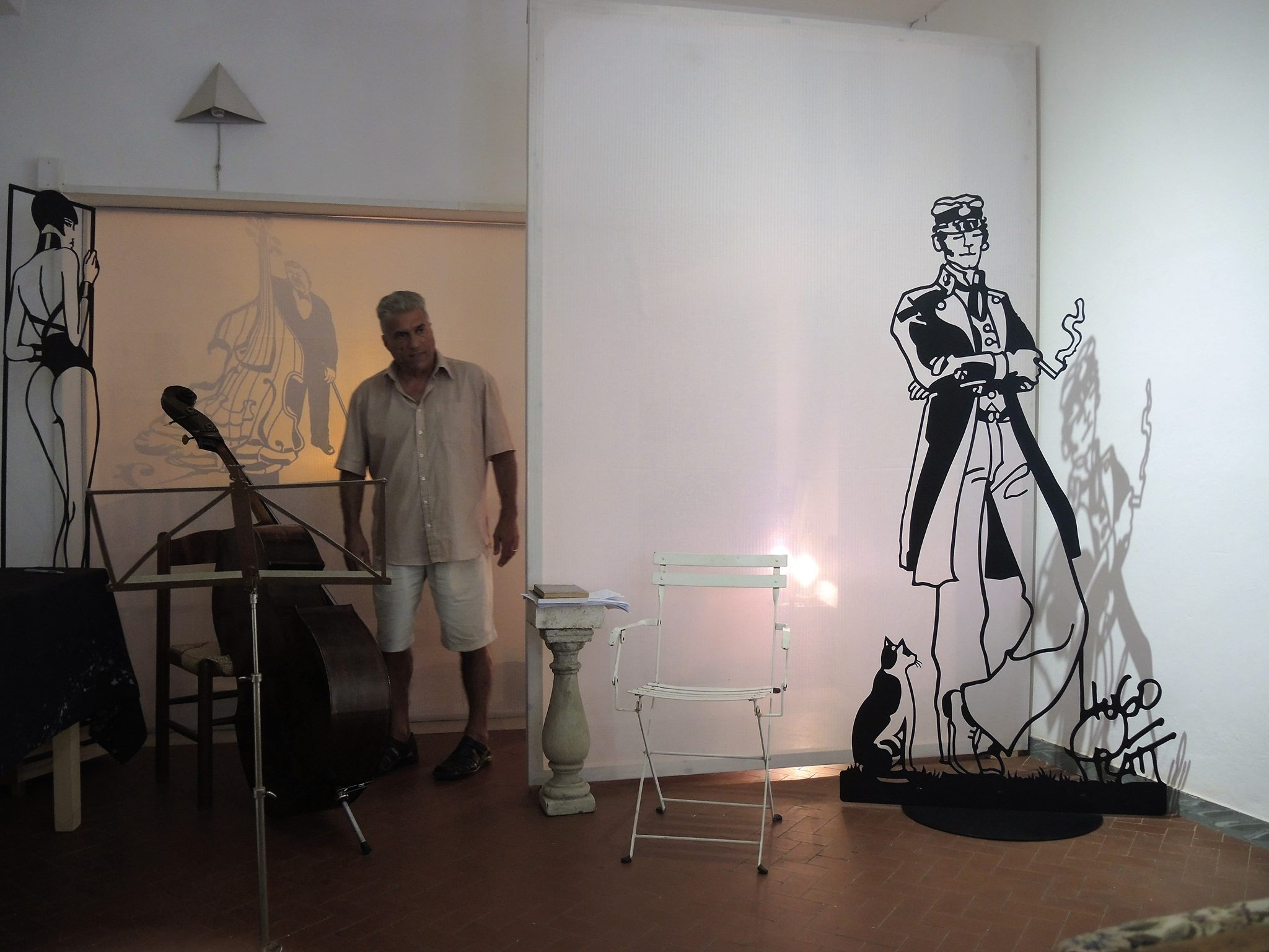 Gianfranco Tedeschi nella galleria delle Chinediferro a Montepulciano 2016