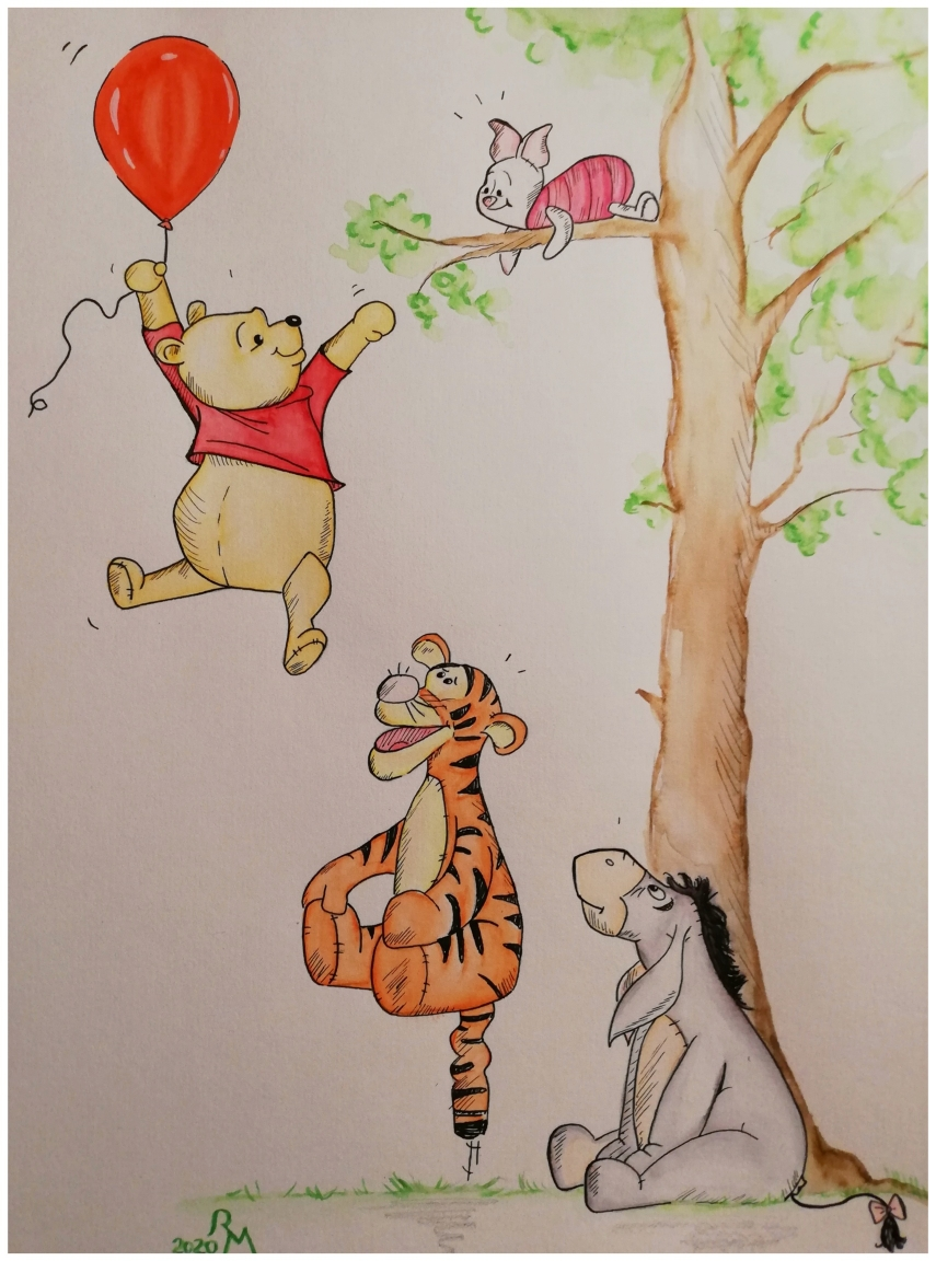 Pooh, Ferkel, Tigger und IA...