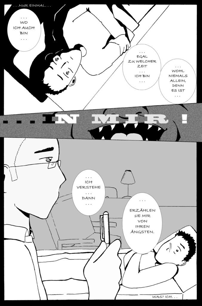 "Comic ""...in mir!"" -Seite 1"