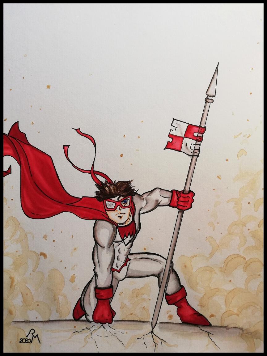 Superhelden-Landung