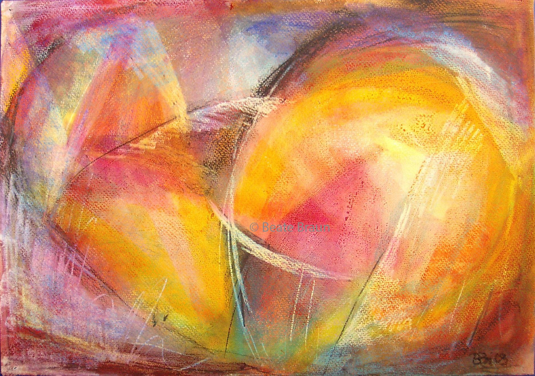 Komposition 1 | 44 x 30 cm | Pastell auf Papier | 2013