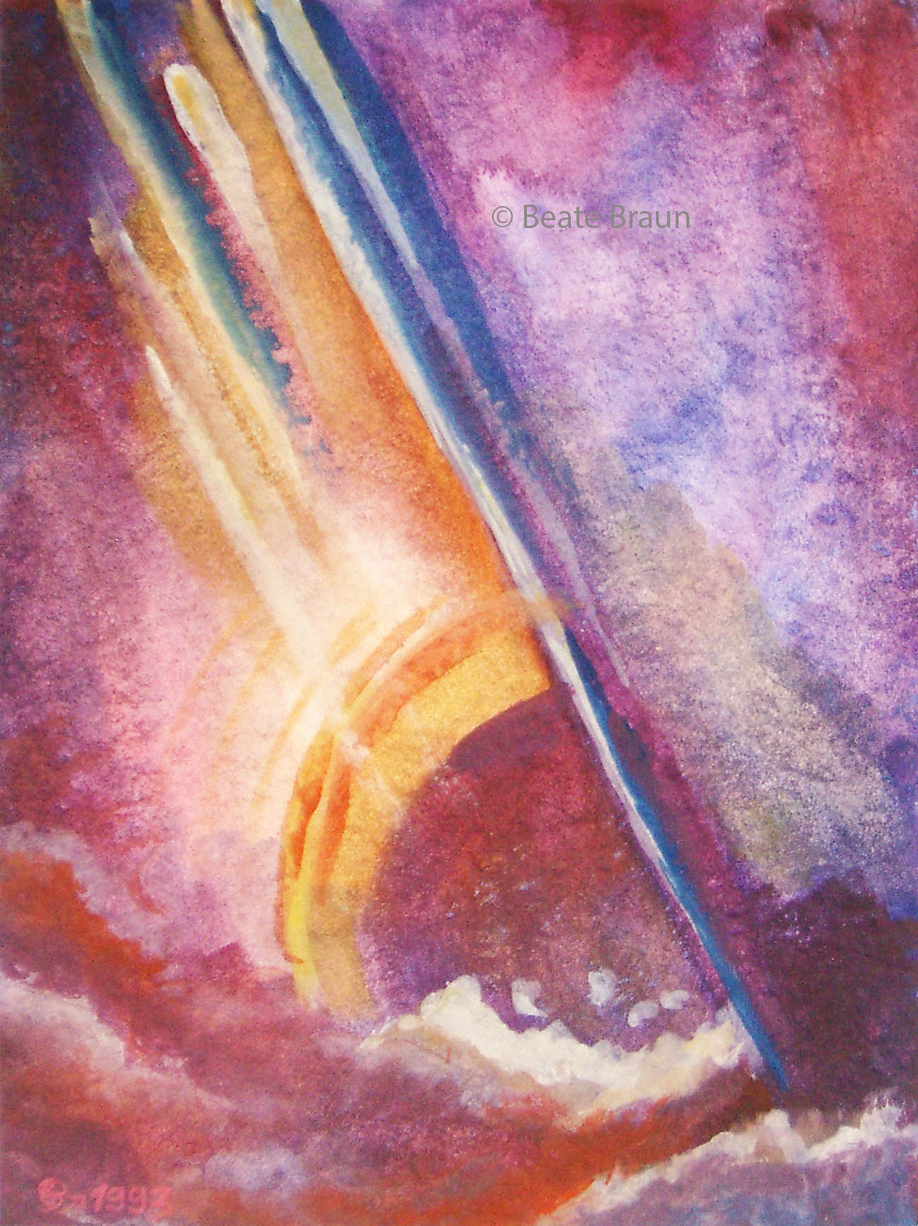 Sonne im Meer | 18 x 24 cm | Aquarell | 1998