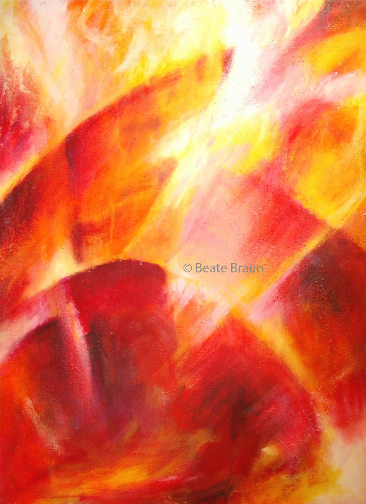 Licht Erde | 60 x 80 cm | Mischtechnik auf Leinwand | 2000