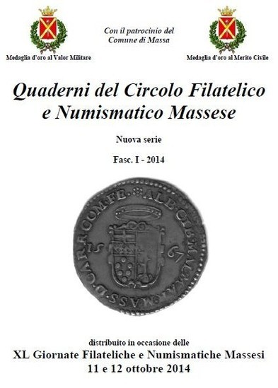 """Copertina de """" I Quaderni del Circolo Filatelico e Numismatico Massese"""""""