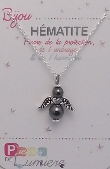 hématite, ange,bracelet, pierres gemmes, vertus, propriété, lithothérapie, bijoux