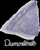 Dumortiérite,  pierre gemme, Pierres de Lumière Saint Rémy de Provence, pierre roulée, pierre brute, galet, lithothérapie, vertus, propriétés, ésotérisme