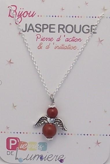 jaspe rouge, pendentif, collier, ange, bracelet, pierres gemmes, vertus, propriété, lithothérapie, bijoux