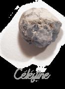Célestine  pierre gemme, Pierres de Lumière Saint Rémy de Provence, pierre roulée, pierre brute, galet, lithothérapie, vertus, propriétés, ésotérisme