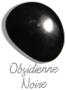 Obsidienne noire,  pierre gemme, pierre roulée, pierre brute, galet