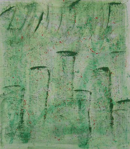 tela per la raccolta fondi per l' Abruzzo - Anna Vecchi e Sassanelli Antonella tecnica : smalti acrilici su lenzuolo misto lino canapone - cm. 270 x 240