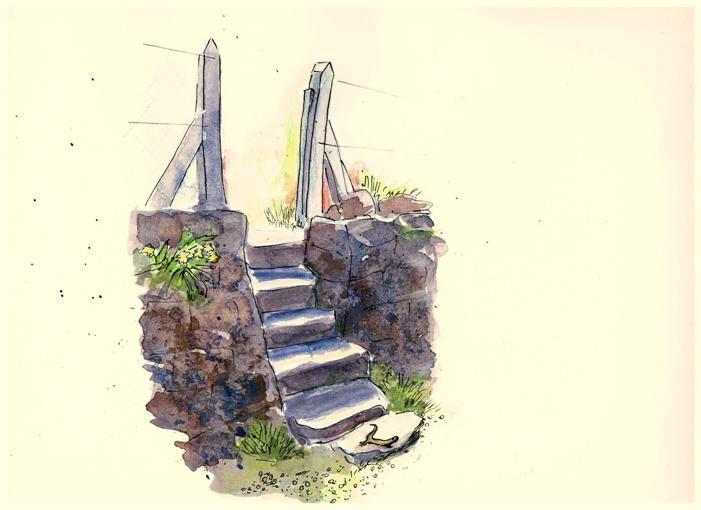 Treppen zum Bach