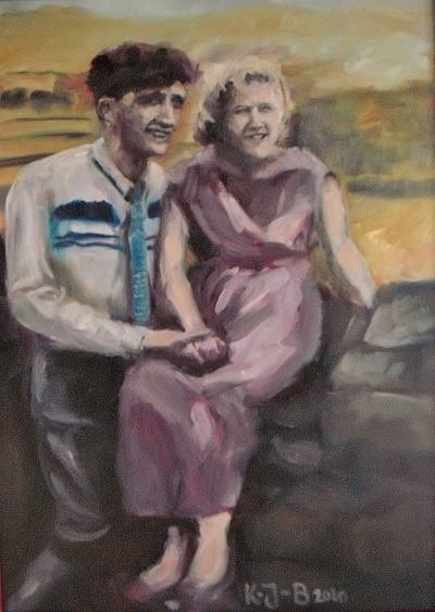 Mary und Frank nach Original-Schwarzweißfoto