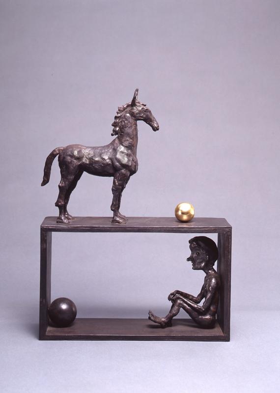 Boy and Horse / bronze / 36.4×27.0×8.8cm / 1989 「少年と馬」ブロンズ