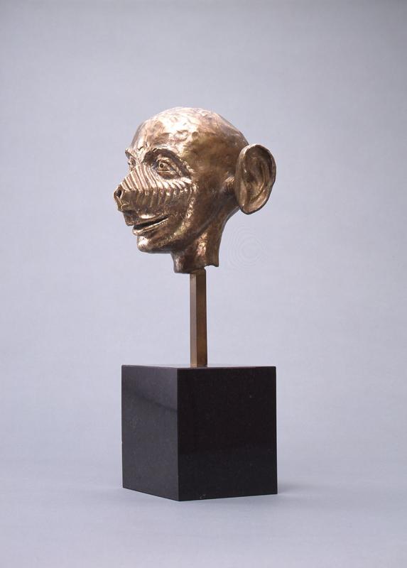 Head / bronze / 23.0×18.5×13.0cm / 1985 「頭像」ブロンズ