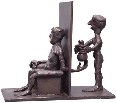 No One Knows / bronze / 25.7×29.2×15.0cm / 1992
