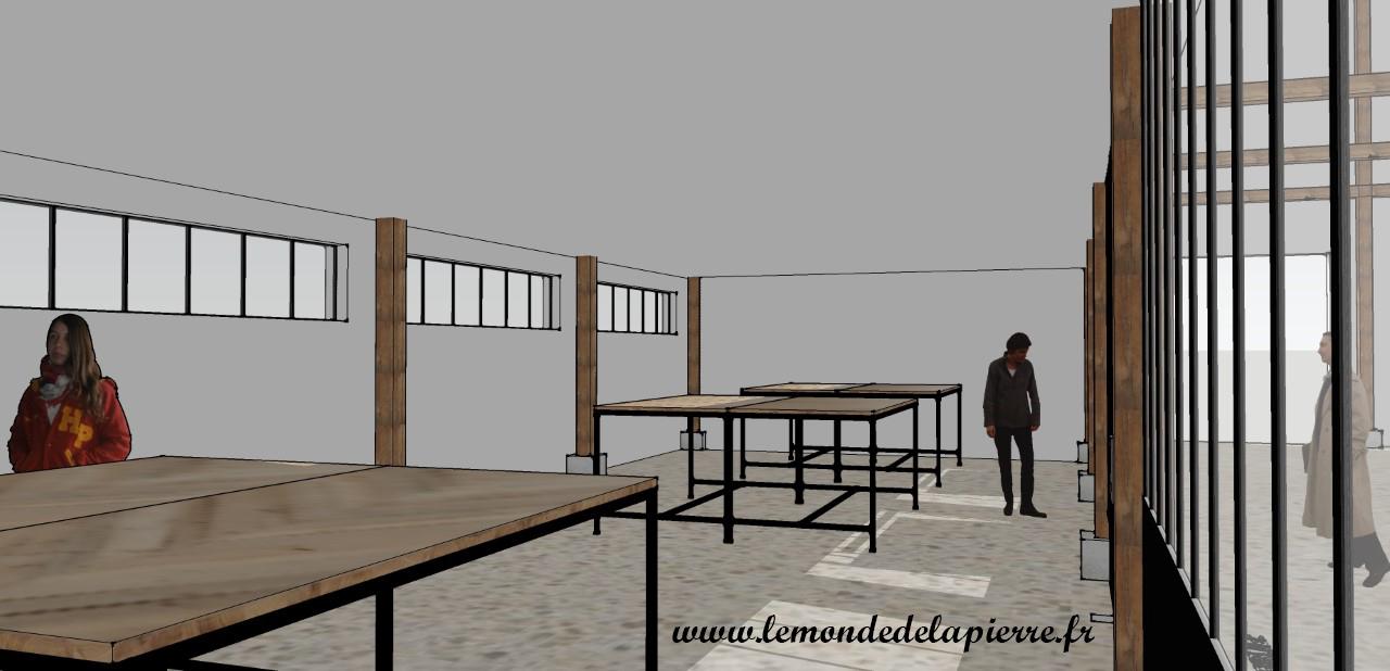 Atelier design de mobilier, vue de l'intérieur