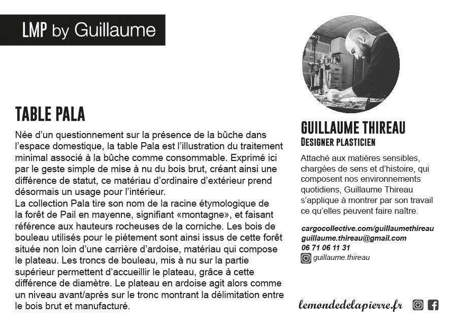 Guillaume Thireau - designer plasticien - table Pala