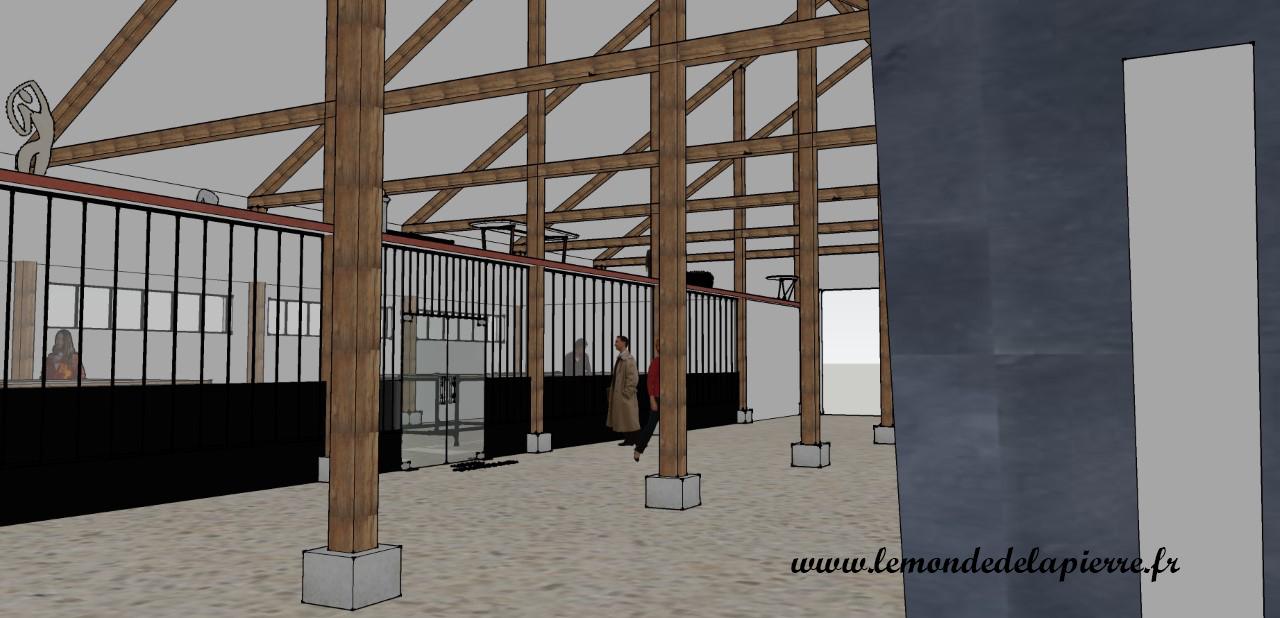 Atelier design de mobilier, vue depuis le shoroom