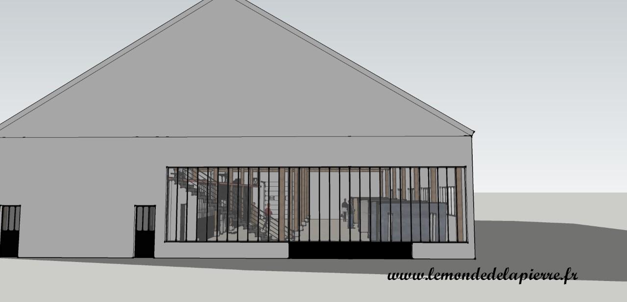 Atelier et showroom, vue de l'extérieur