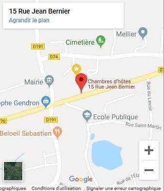 maps google chambre d'hote du haut anjou thorigné