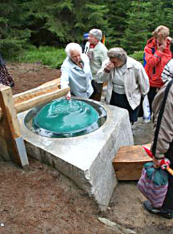 Quelle an der Hauswaldkapelle