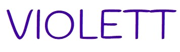 Violett - Schriftzug der Farbkollektion Violett