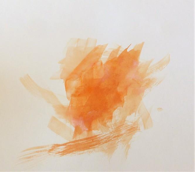 Orange in Bewegung, Pflanzenfarben