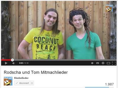 Dein persönliches Kinderlied-Video mit Rodscha und Tom