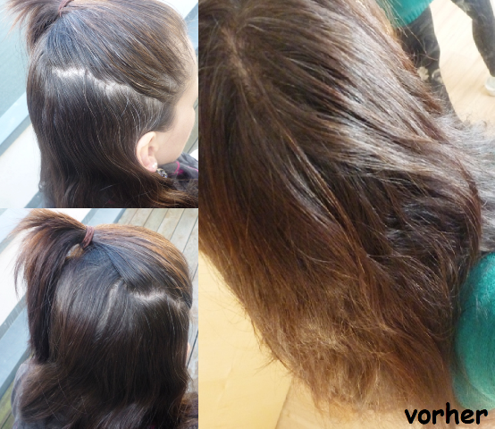Meine Haarfarbe vor der Anwendung