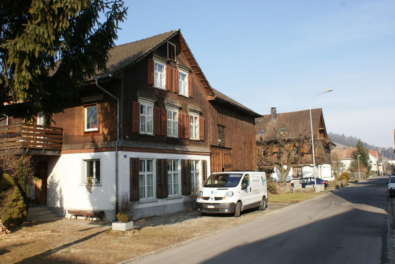 Ein typisches Haus von einer Stickerbauernfamilie.