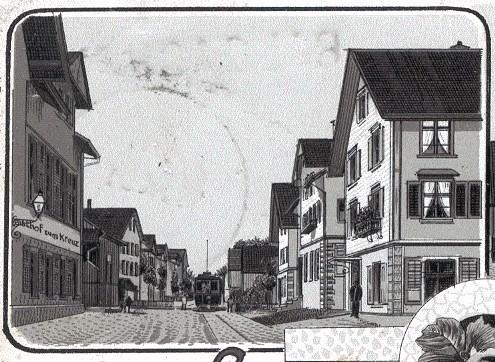 Links: Gasthof zum Kreuz