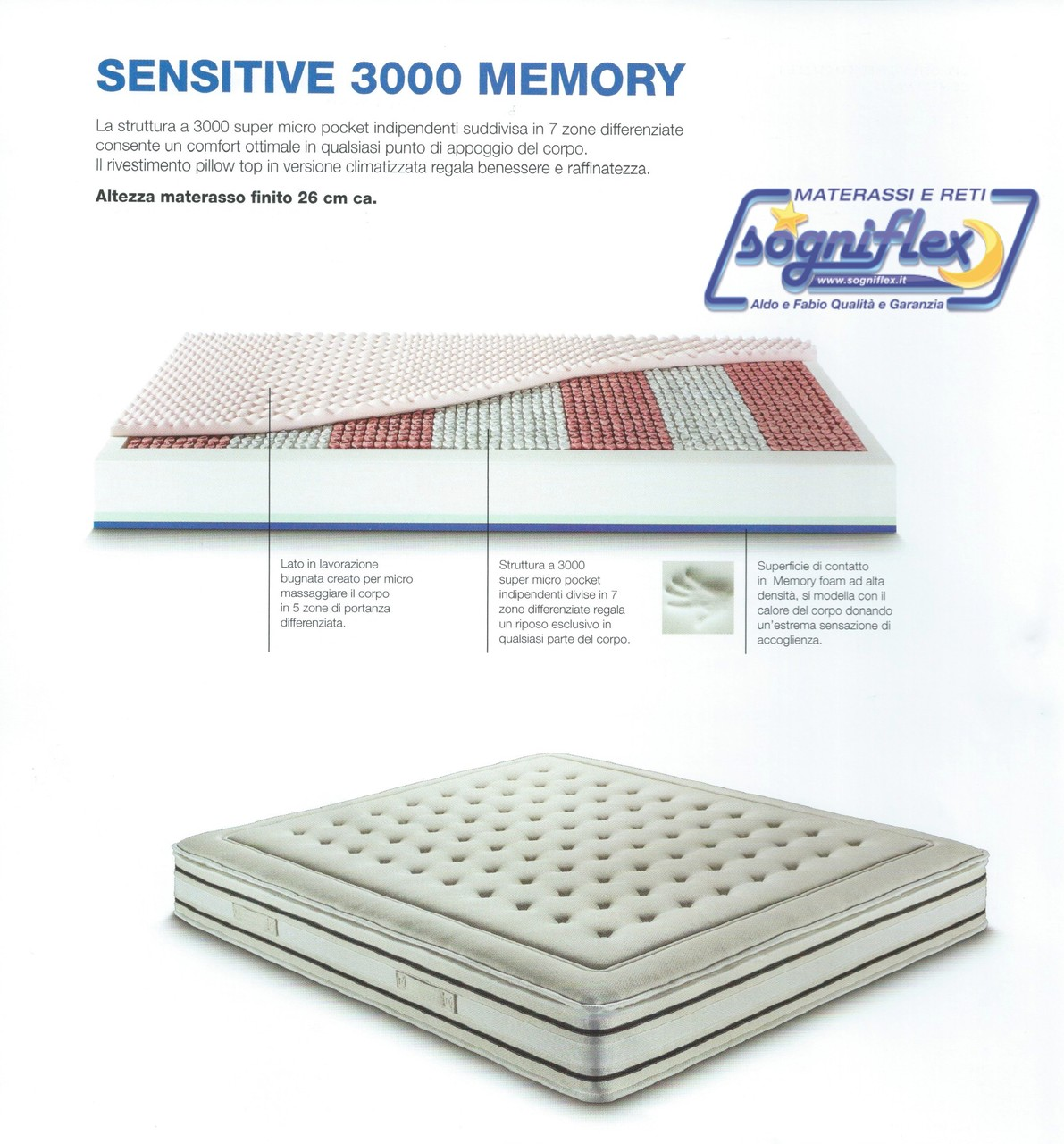 Materasso Sensitive 3000 Memory