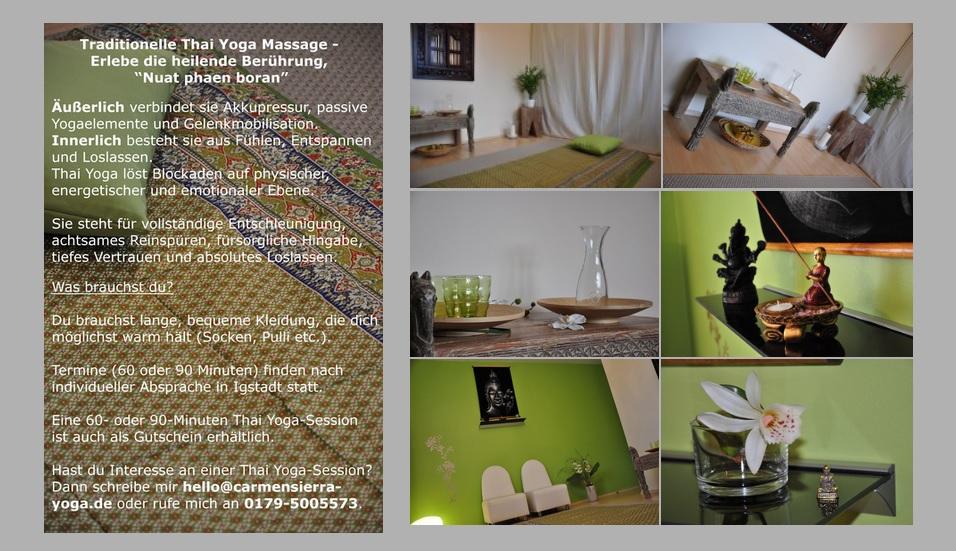 Thai Yoga und Massagen finden noch NICHT statt.