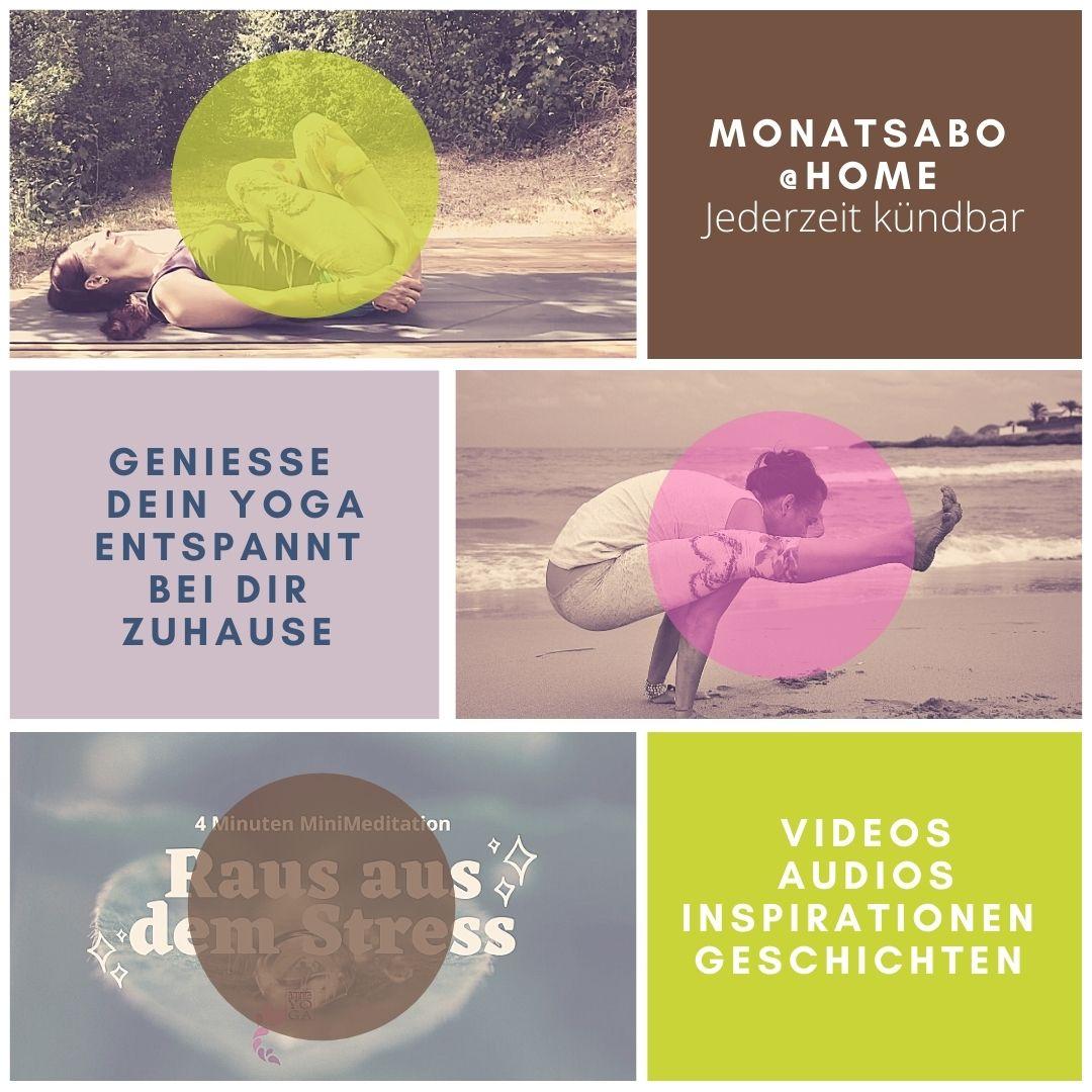 Yoga Online ganz bequem von Zuhause im monatlichen ABO.
