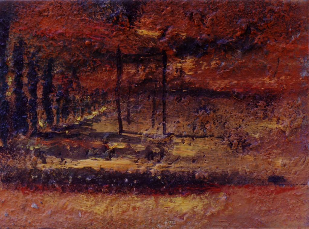 Heridas en la tierra tiñen el cielo de rojo 1993