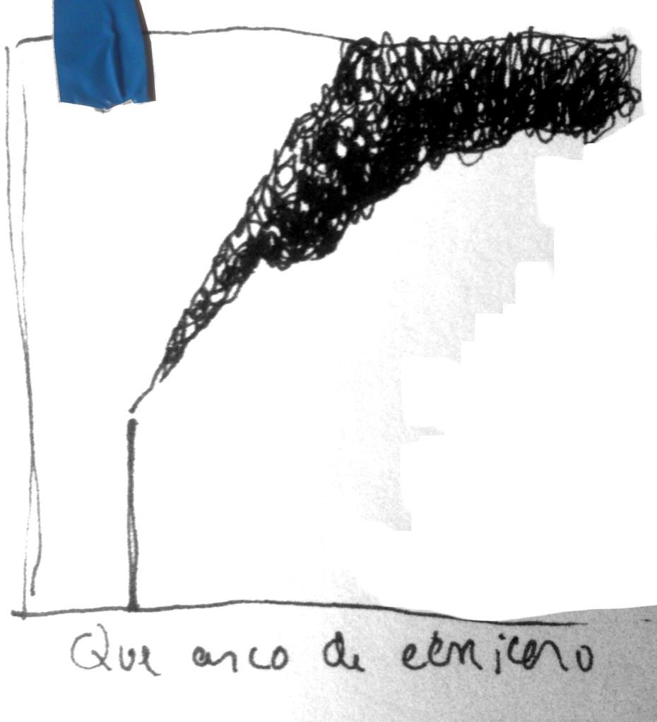 Apunte, paisaje metafisico, conversaciones con el humo negro 6 (1995)