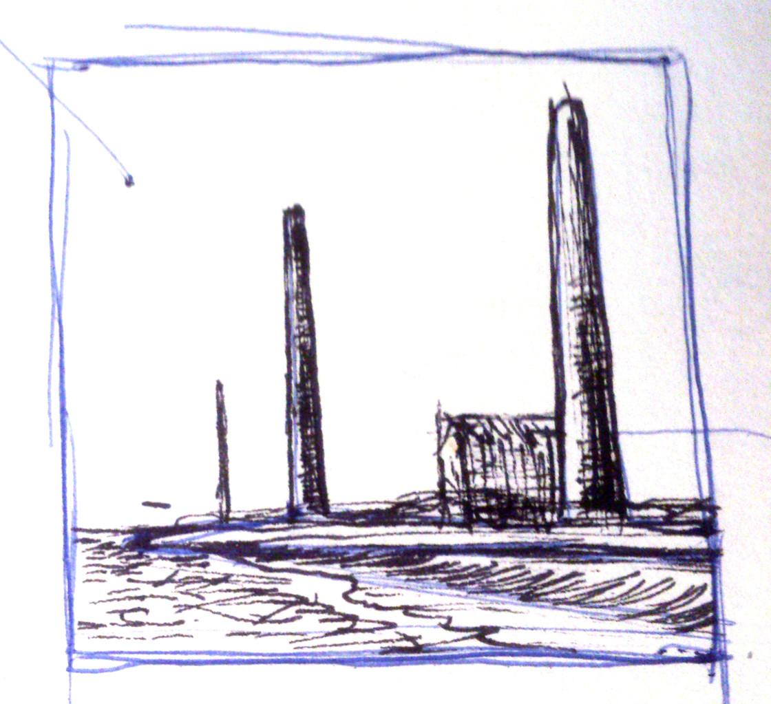 Apunte, paisaje metafisico, conversaciones con una chimenea 2 (1995)