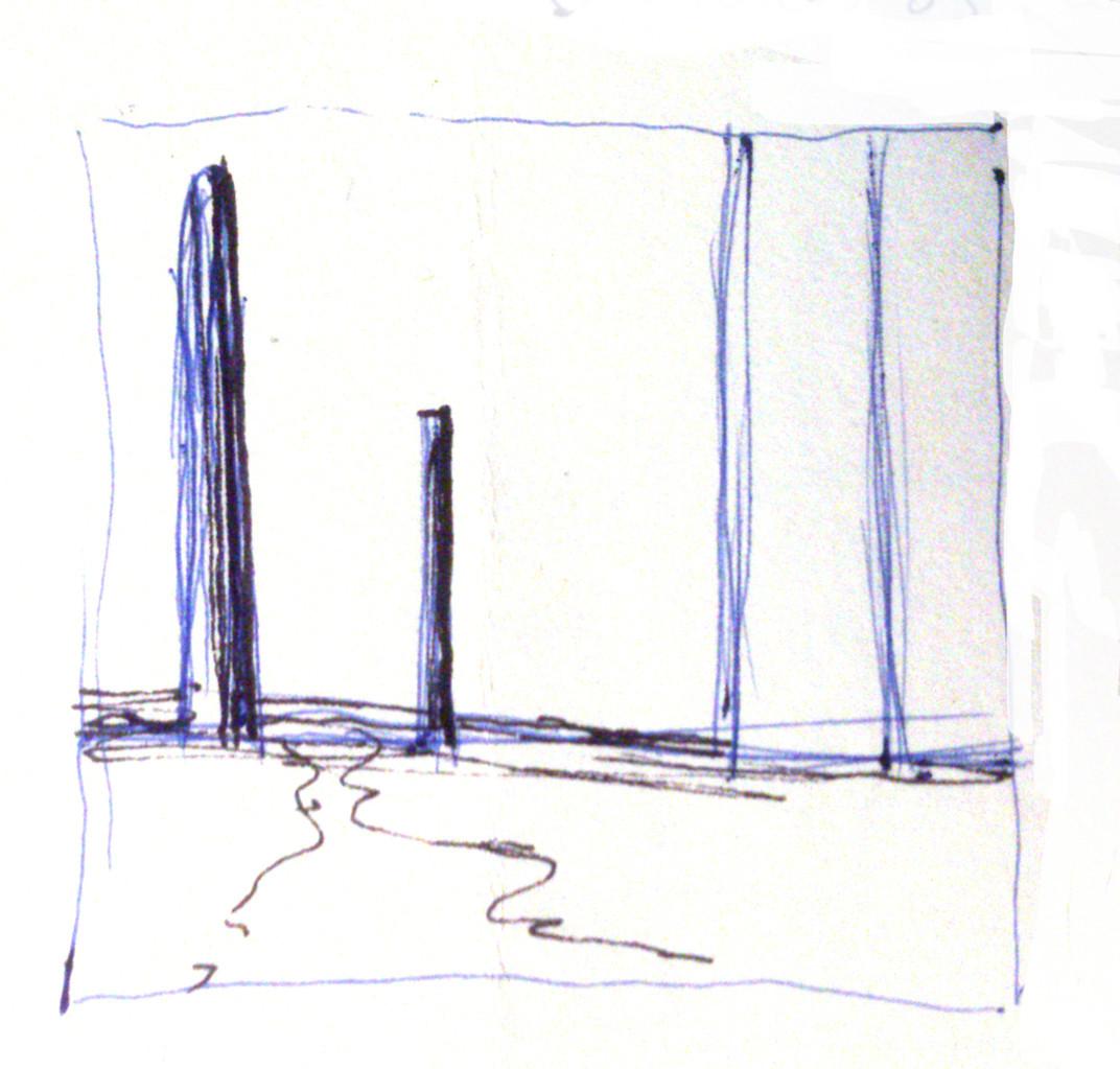Apunte, paisaje metafisico, conversaciones con una chimenea 1 (1995)