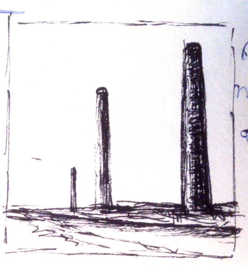 Apunte, paisaje metafisico, conversaciones con una chimenea 3 (1995)
