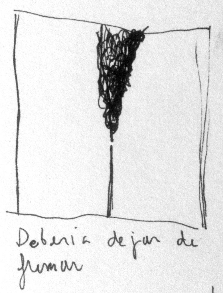 Apunte, paisaje metafisico, conversaciones con el humo negro 4 (1995)