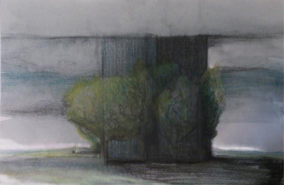 Apunte, paisaje metafisico, conversaciones con una chimenea 6 (1995)